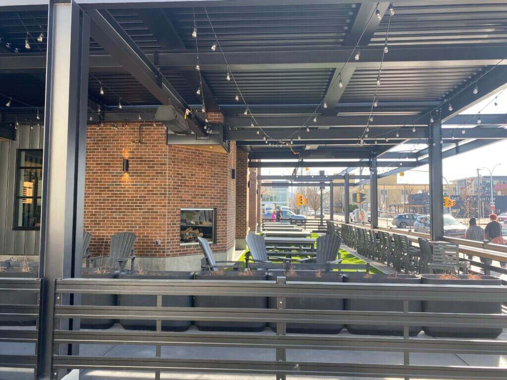 Neighbourhood Brewing - Penticton - Louvered Roof Patio Cover
