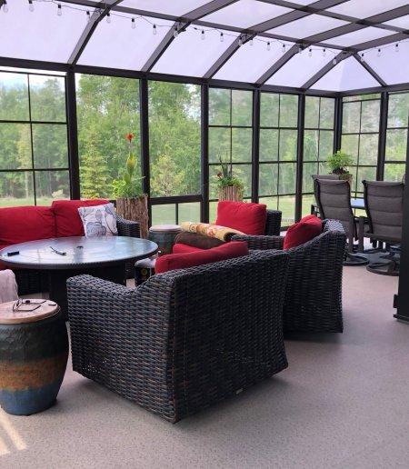 Sunroom Enclosure - Polycarbonate roof - Suncoast Enclosures
