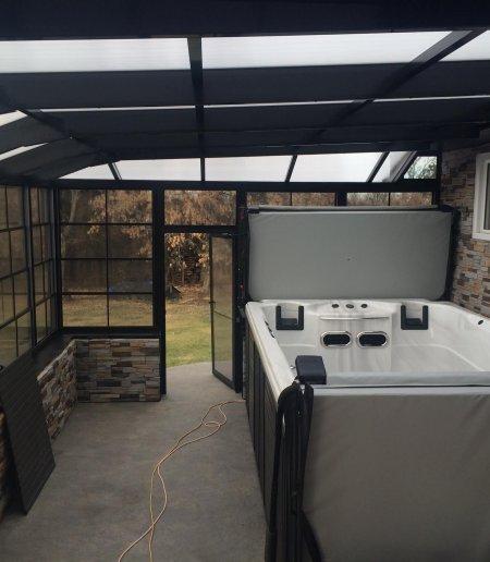 3 Season Room Privacy Enclosure - Suncoast Enclosures