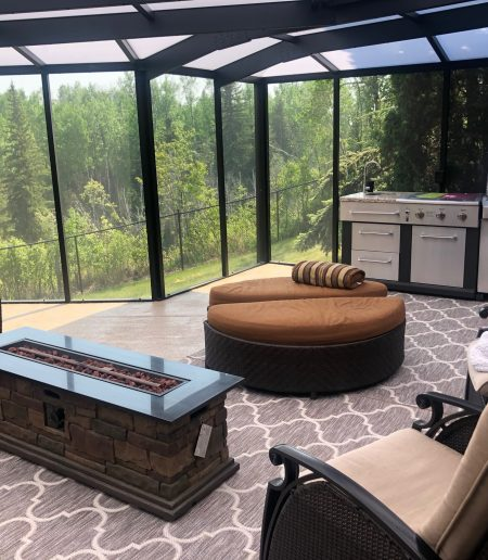 Screen Room with Patio Cover - Suncoast Enclosures