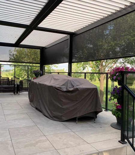 Screen Room with Louvered Roof - Suncoast Enclosures