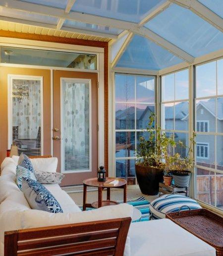 Three Season Sunroom Enclosure White Polycarbonate