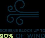 Screens block wind icon